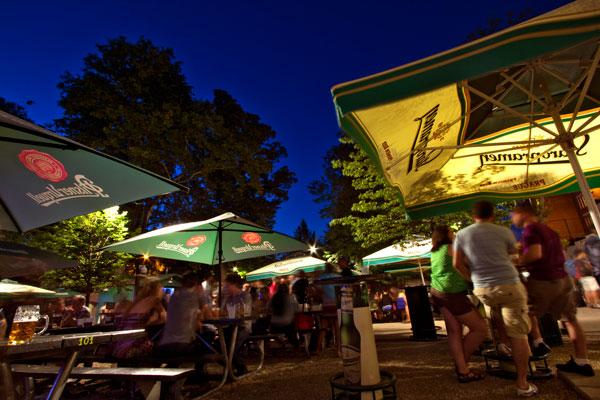 bohemian hall beer garden evening photo matt hageman - Bohemian Beer Garden