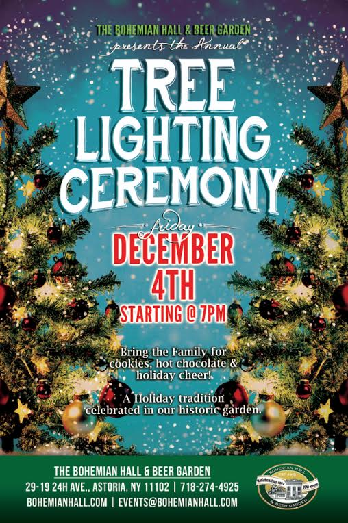 Annual Tree Lighting Bohemian Hall And Beer Garden Of Astoria