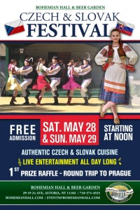 Czech and Slovak Festival Memorial Day Weekend!  Raffles, Authentic Cuisine and Entertainment!