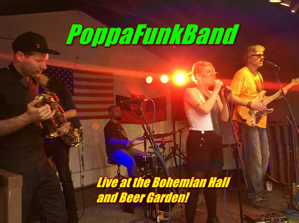 Live at Bohemian Hall Beer Garden Saturday August 20th 6pm