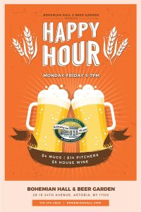 Happy Hour 5-7 pm 5-7 pm Mon-Fri Not valid on holidays