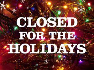 ClosedForTheHolidays