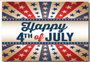 We will be OPEN EARLY at 12pm.  Happy 4th of July