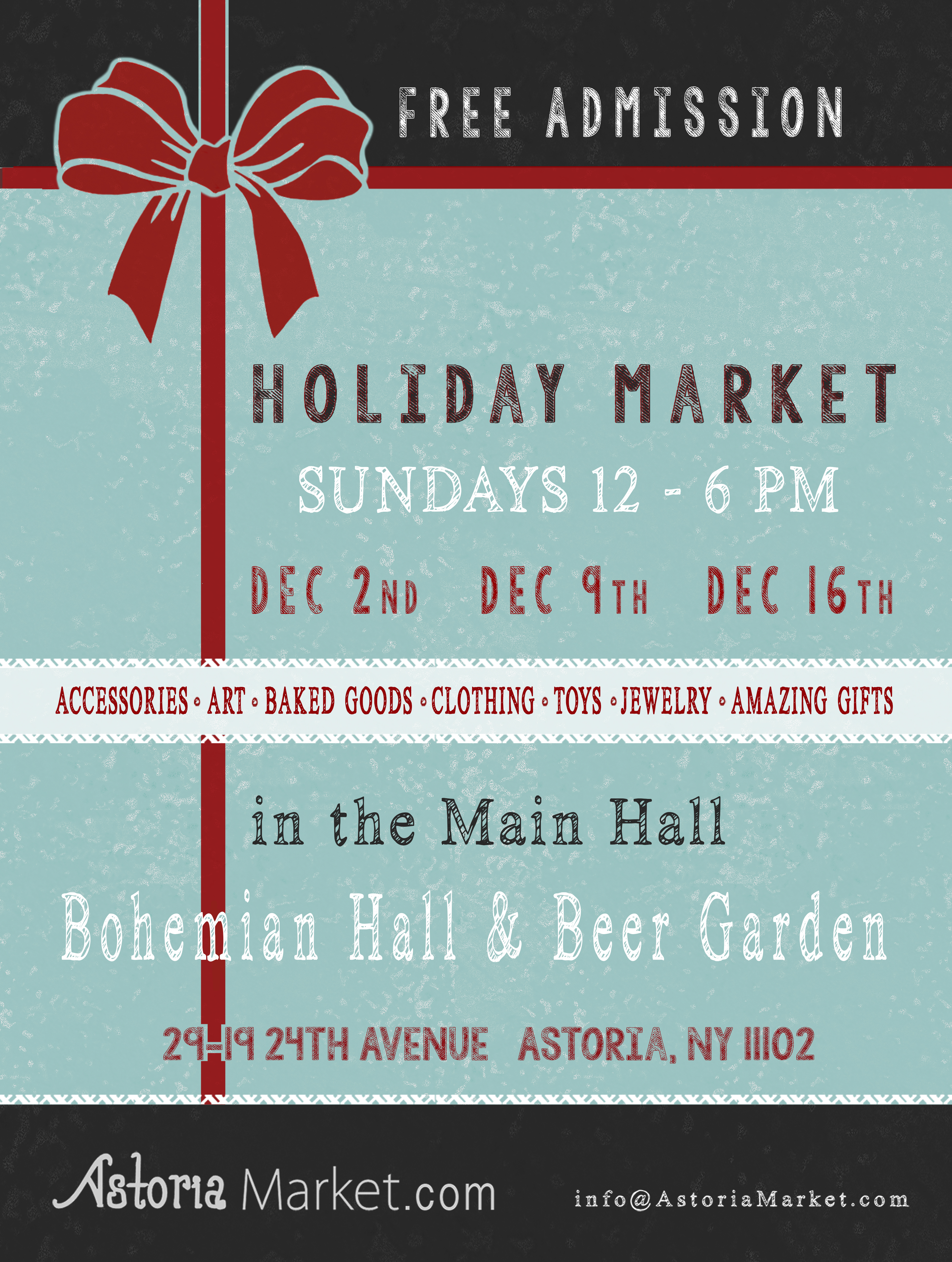Free Admission. Come do all of your holiday shopping!!!
